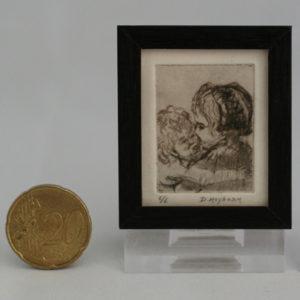Miniatuur etsen van Diane Meyboom