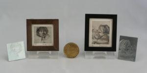 Miniatuur etsen van Diane Meyboom - Rembrand ets
