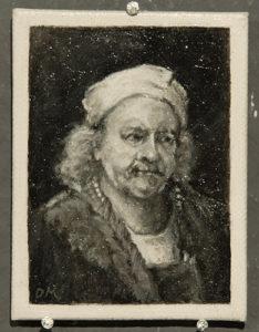 Bijzondere miniaturen:Expositie Slot Zeist van Diane Meyboom - De Portretjes van Rembrandt -7