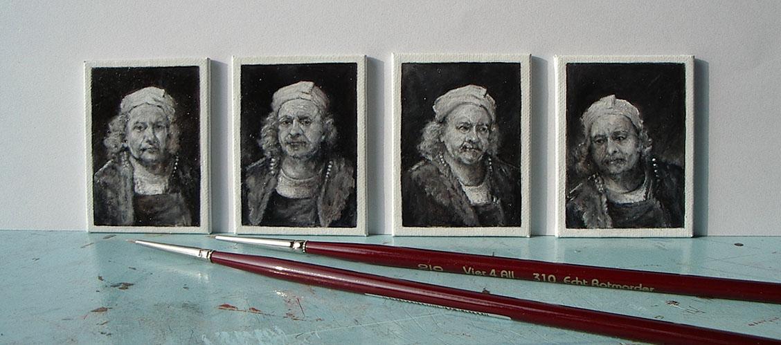 De portretjes van Rembrand - Diane Meyboom miniatuur kunstschilderes