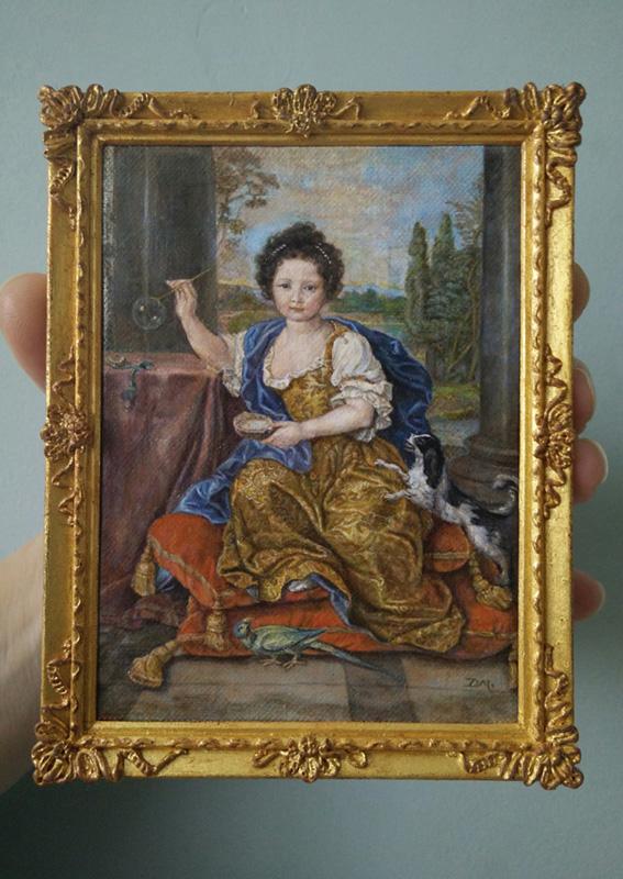 Miniatuur van Louise Marie Anne de Bourbon door Diane Meyboom