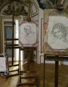 Miniatuur schildersbord inclusief schets - Door Diane Meyboom